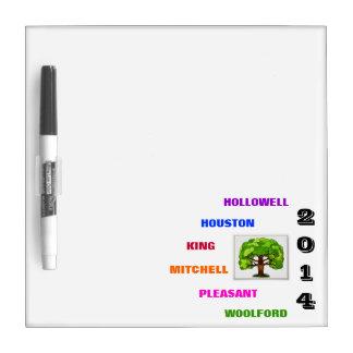 H.H.K.M.P.W. Family Reunion Dry Erase Board