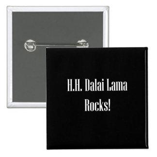 H.H. ¡Rocas de Dalai Lama! Pins