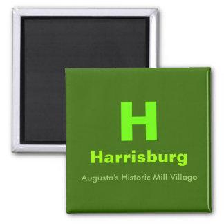 H, Harrisburg, Augusta's Historic Mill Village Magnet