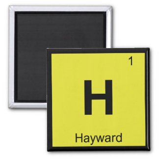 H - Hayward California Chemistry Periodic Table Magnets