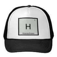 H - Horseshoes Games Chemistry Periodic Table Hat