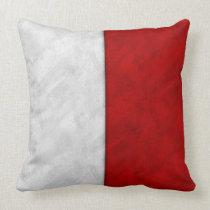 H Hotel Watercolor Nautical Signal Maritime Flag Throw Pillow
