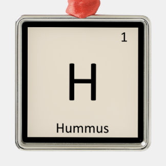 H - Hummus Appetizer Chemistry Periodic Table Ornaments