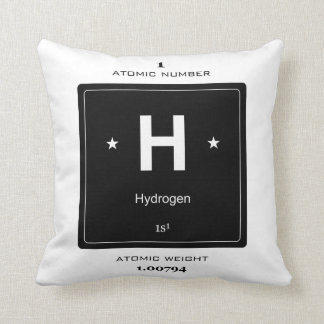 H, Hydrogen (Chemical Elements) Throw Pillow