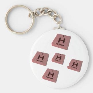 H Hydrogen Keychain