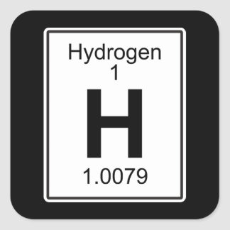 H - Hydrogen Square Sticker