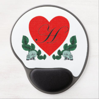 H in a heart gel mouse pad