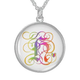 """H Initial Monogram """"Gothic Sunshine"""" Necklaces"""
