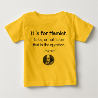 H is for Hamlet • A Little Shakespeare Shirt
