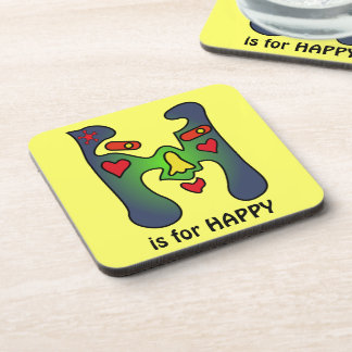 H is for HAPPY Drink Coaster