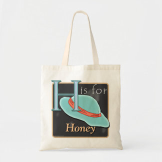 H Is For Hat H Is For Honey Canvas Bag