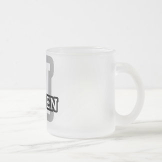H is for Hayden Frosted Glass Coffee Mug