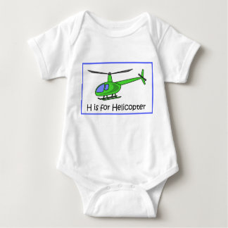 H is for helicopter baby bodysuit