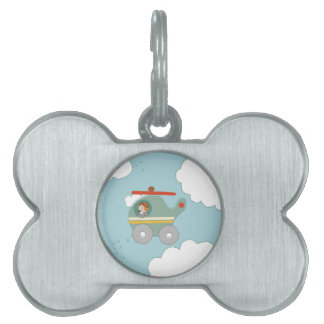 H is for Helicopter Pet Tag