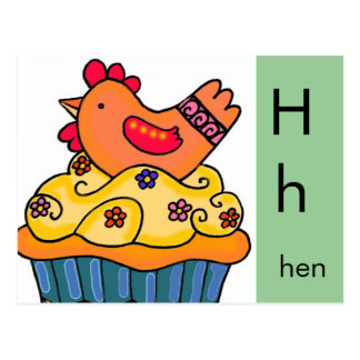 H is for Hen Postcard