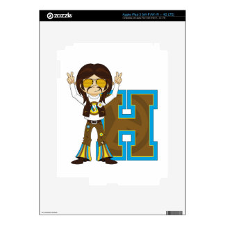 H is for Hippie Decal For iPad 3