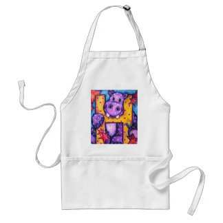 H is for Hippo Adult Apron