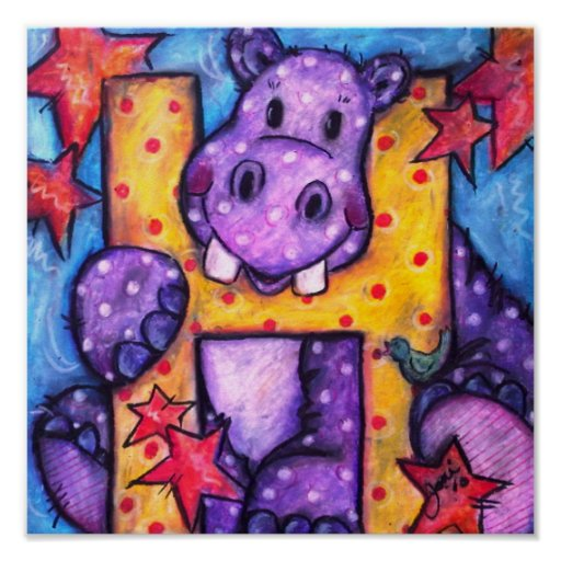 H is for Hippo Print