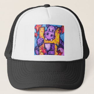 H is for Hippo Trucker Hat