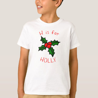 H is for Holly Boys Holiday T-Shirt