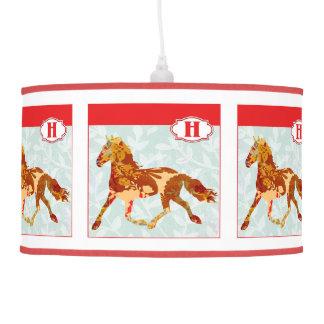H is for HORSE Alphabet Block Hanging Pendant Lamp