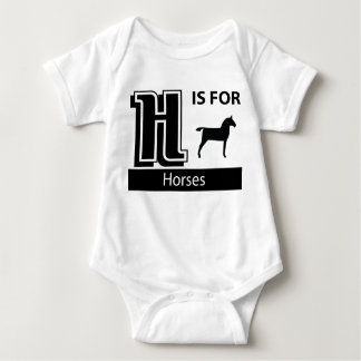 H Is For Horses Baby Bodysuit