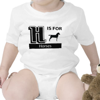 H Is For Horses Romper