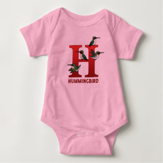 H is for Hummingbird Baby Bodysuit