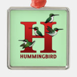H is for Hummingbird Christmas Tree Ornaments