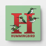 H is for Hummingbird Display Plaques
