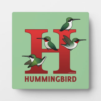 H is for Hummingbird Plaque