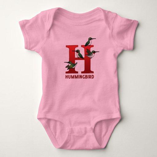 H is for Hummingbird Tshirt