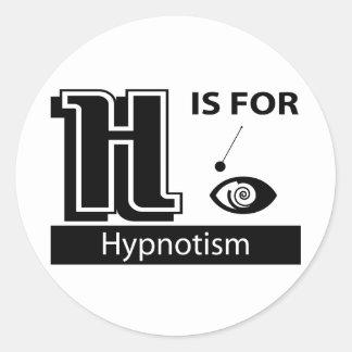 H Is For Hypnotism Classic Round Sticker
