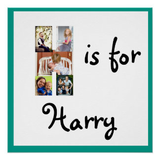 H is for Name Poster