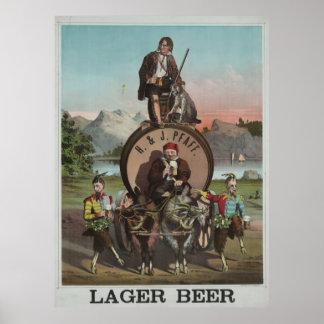 H. & J. lager beer [187-?] Poster