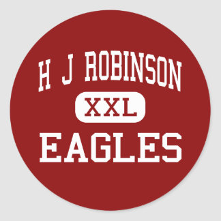 H J Robinson - Eagles - centro - Lowell Pegatina Redonda