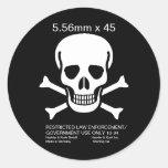 H&K 5.56mm x 45 Skull Sticker