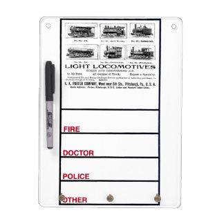 H K Porter & Co.Light Locomotives Dry Erase Board
