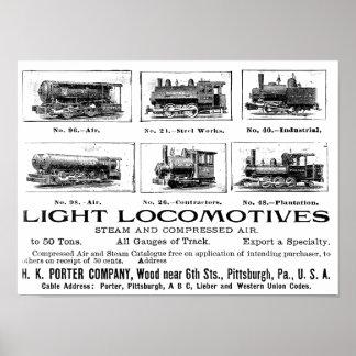 H K Porter & Co.Light Locomotives Poster