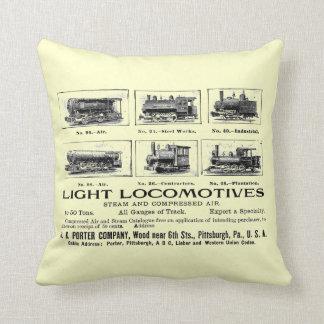 H K Porter & Co.Light Locomotives Throw Pillow