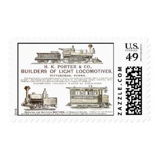 H K Porter & Company Railroad Locomotives 1890 Postage