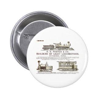 H K Porter & Company Railroad Locomotives Pinback Button