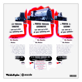 H.K. Porter Fireless Steam Locomotive 1943 Wall Sticker
