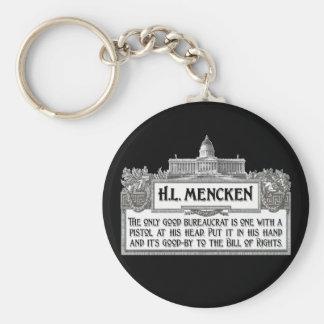 H.L.Mencken on Bureaucrats Keychain