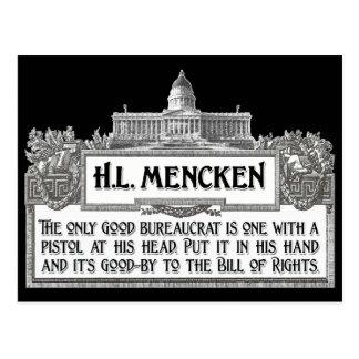 H.L.Mencken on Bureaucrats Postcard