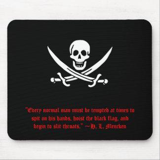 H. L. Mencken Pirate Mousepad