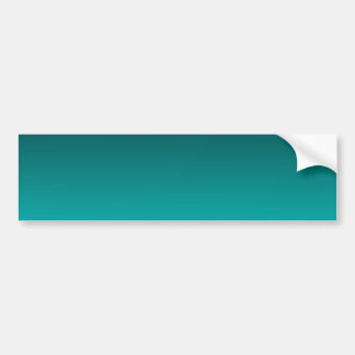 H Linear Gradient - Black to Cyan Bumper Sticker