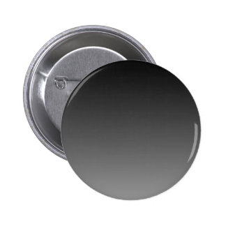 H Linear Gradient - Black to Gray Pinback Button