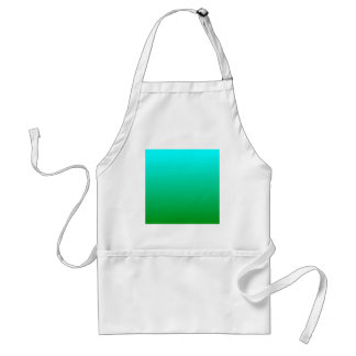 H Linear Gradient - Cyan to Green Apron