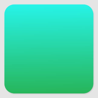 H Linear Gradient - Cyan to Green Stickers